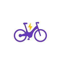 electric bike icon vector image