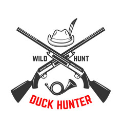 emblem template duck hunting club emblem vector image