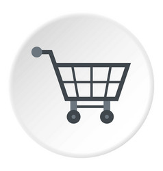 empty supermarket cart icon circle vector image