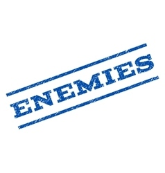 Enemies Watermark Stamp vector