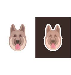 face dog vector image