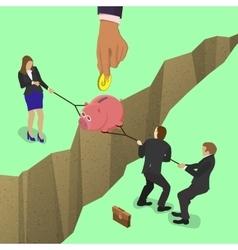 Fighting over money vector