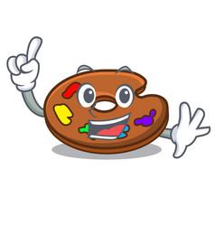 Finger palette mascot cartoon style vector