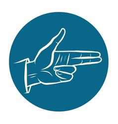 fingers gun hand gesture vector image