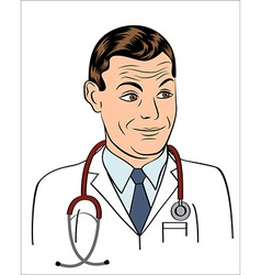 friendly doctor smiling vector image