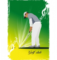 golf club poster vector image
