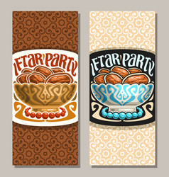 Greeting card for ramadan iftar party vector
