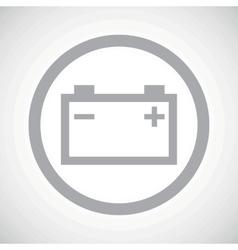 Grey accumulator sign icon vector