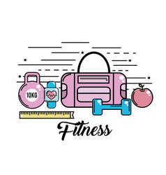 Healthy activity tools to lifestyle practice vector