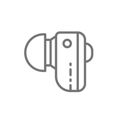 Hearing aid wireless headphones line icon vector