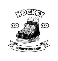 Hockey championship symbol vector