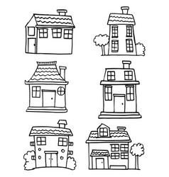 house set hand draw vector image