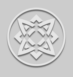 Icon slavic sign svarog square vector