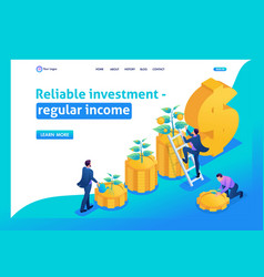 Isometric conceptual save and increase investment vector