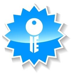 Key blue icon vector