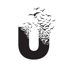 Letter u with effect destruction dispersion vector