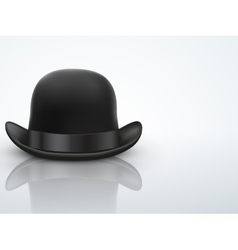 Light Background Black bowler hat vector