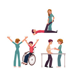 medical rehabilitation physical therapy vector image