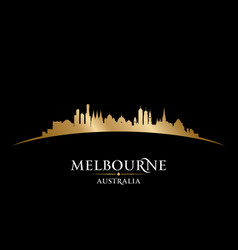 Melbourne australia city silhouette black vector