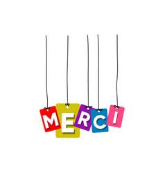 merci greeting card vector image