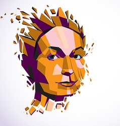 Modern technological of personality 3d port vector