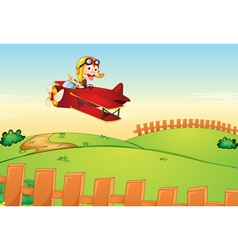 Monkey flying an aircraft vector