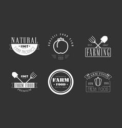 natural farm products logo templates collection vector image