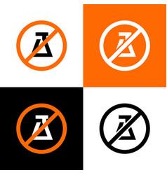 No experiment sign science forbidden icon vector