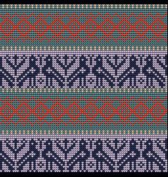 Norwegian traditional ornament vector