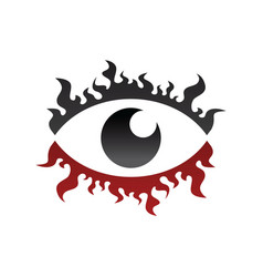 One eye look watch fire burn theme vector