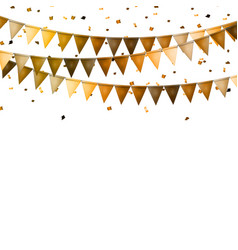 Party background with flags and confetti vector