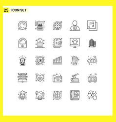Pictogram set 25 simple lines albums vector