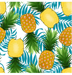 pineapple seamless pattern whole vector image