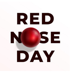 Red nose day abstract sign emblem or card vector