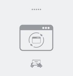 Refresh computer window icon vector
