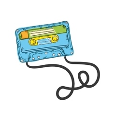retro cassette tape vector image