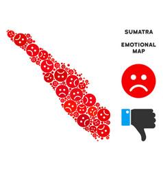 Sadness sumatra island map mosaic of sad vector