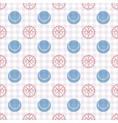 seamless pattern baseball vector image