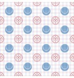 seamless pattern baseball vector image