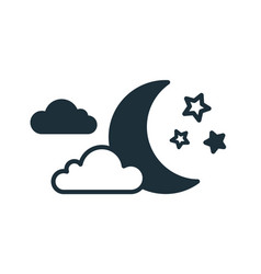 simple weather icon with half moon or waning vector image