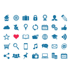 social media and website icons vector image