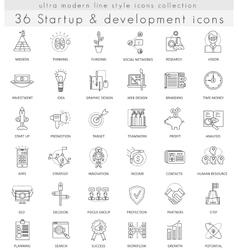 Startup and development ultra modern vector image