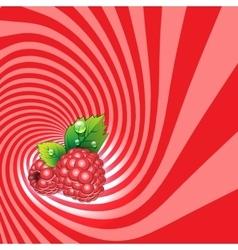 Striped spiral raspberry patisserie background vector image