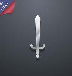 sword icon symbol 3D style Trendy modern design vector image