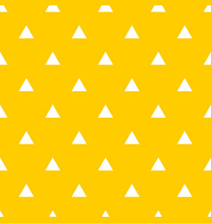 tile pattern with white triangles on yellow vector image