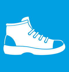 Tourist shoe icon white vector