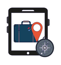 Travel and online technology vector