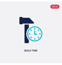 Two color build time icon from general-1 concept vector