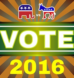 Usa Election 2016 Elephant versus Donkey Banner vector