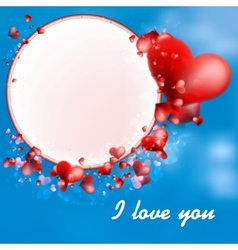 Valentines Day Hearts on blue EPS10 vector image